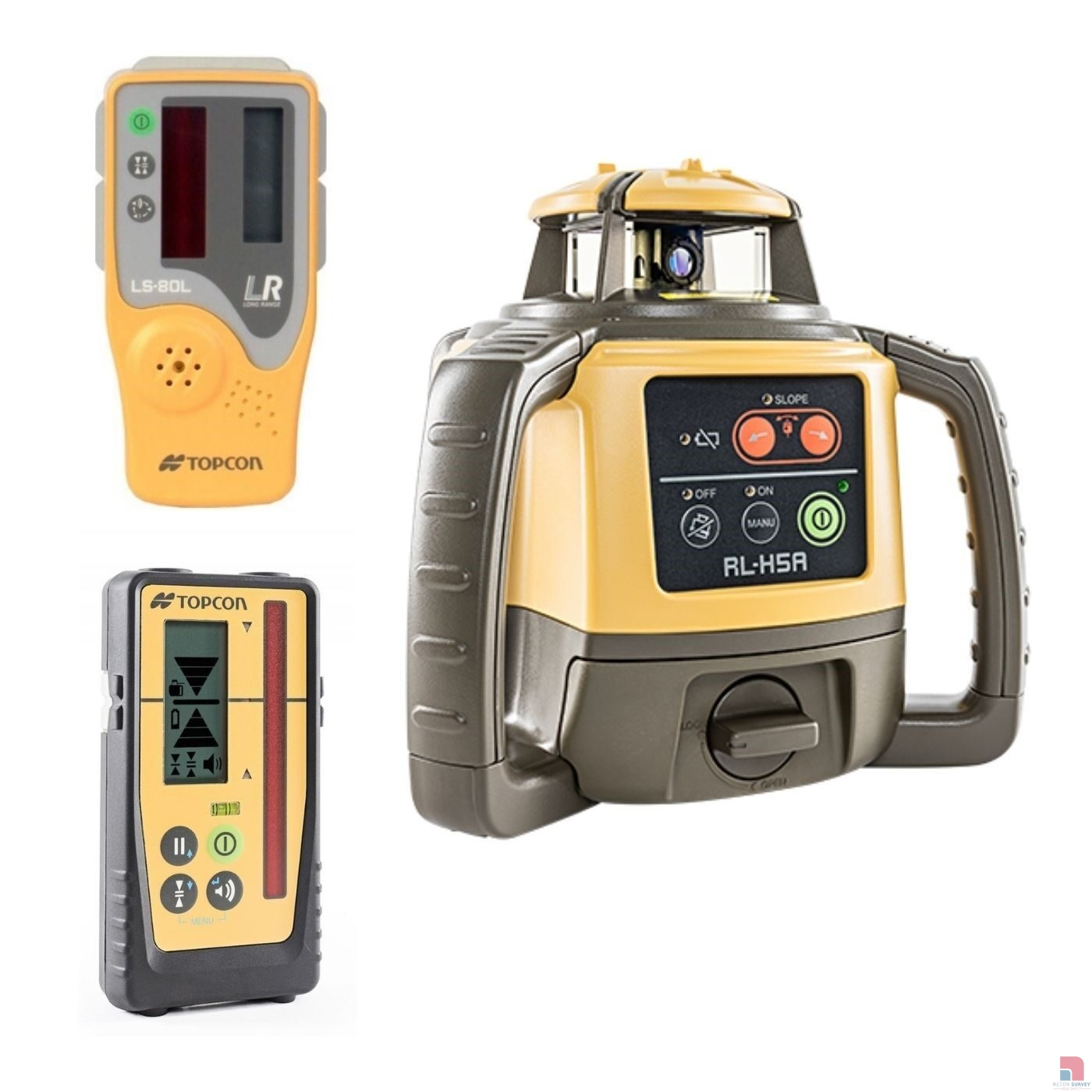topcon rl h5a laser level with ls 80 or ls 100d laser receiver 98 p
