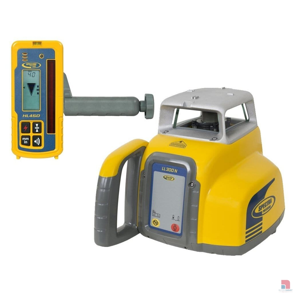 Spectra Precision LL300N 4 Rotating Laser Level with HL450 Laser Detector 002 1024x1024